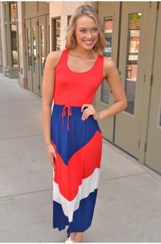 Michelle The perfect maxi dress for your 4th festivities! #chelseasboutique #siouxfalls #southdakota #shop #fashion