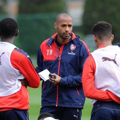 Thierry Henry during a under-19s' training session