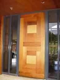 Panelled cedar front door