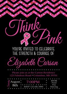 PINK RIBBON. Breast Cancer. Think Pink. Party by PartySoPerfect
