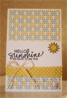 Cheerful and all-around happy (and totally do-able) card by Ashley Harris. Bring on the Sun by Ali Edwards stamp set from @Technique Tuesday.