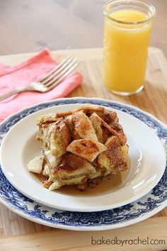 Apple Pie French Toast Casserole Recipe from bakedbyrachel.com. This Rachel should bake this too.