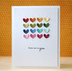 Stitched Hearts card