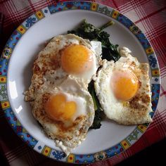 Eggs and Spinach ... Some Paprika...