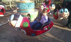 Riding the Ladybugs!  Love that there is something for every age at SDC.