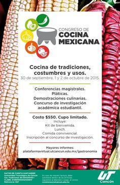 Congreso de Cocina Mexicana en Cancun del 30 septiembre al 2 de octubre 2015