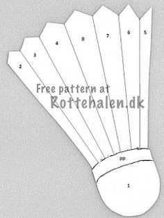 Iris Folding Pattern Badminton Shuttlecock