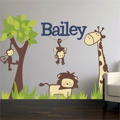 Rosenberry Rooms is offering a 10% discount on your purchase of $350 or more.  Share the news and take advantage of the savings! It's A Jungle Out There Fabric Wall Decal #rosenberryrooms