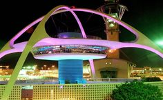 Futuristic restaurant located at the Los Angeles International Airport (LAX). Encounter Restaurant is one of Los Angeles' most unique examples of Googie architecture