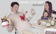 Rockwell Style Photo Tutorial, using Photoshop. Are you ready for your Christmas photo? via: http://thepapermama.com/2012/11/day-24-rockwell-style-christmas-photo.html