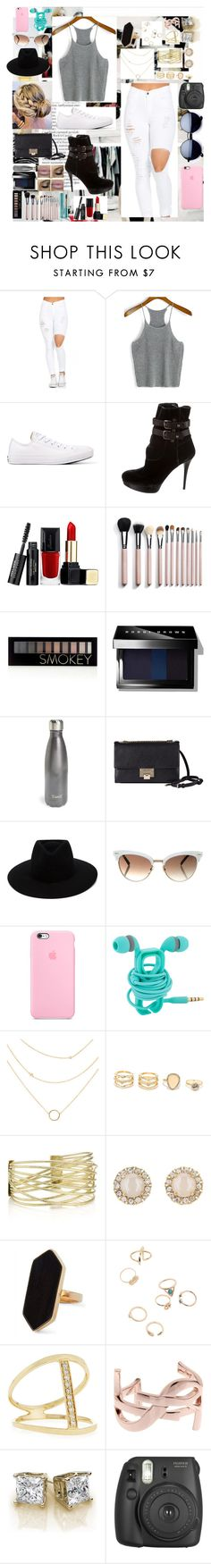 """❤️"" by lilygriffiths44 ❤ liked on Polyvore featuring Longchamp, Converse, Stuart Weitzman, Guerlain, Forever 21, Bobbi Brown Cosmetics, S'well, Jimmy Choo, rag & bone and Gucci"