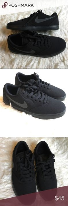 Nike SB Check Black Canvas Size 8 NEW Classic Black SB's new never worn. Re-posh due to incorrect size. Offers welcome! Nike Shoes Sneakers