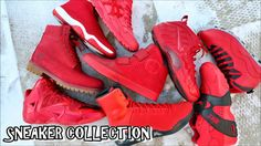 ALL RED SNEAKER COLLECTION Feels 22 Sneakers...  A look at my all red sneaker collection which includes the Nike LeBron 11, Air Jordan 10 Bulls Over Broadway, Air Jordan Future, Nike Kobe 9 Elite EXT, and MORE! Instagram: https://instagram.com/therealrayray20 feels22:...