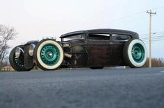 Chopped rod - the green is a great touch. #HotRod #Custom #Chopped