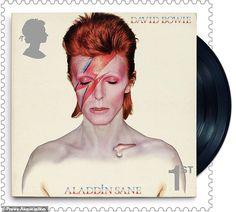 Selos especiais emitidos como uma homenagem a David Bowie