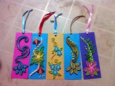 Paper Quiled Book Marks