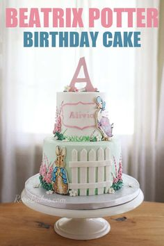 Beatrix Potter Cake with Peter Rabbit & Jemima Puddle-duck