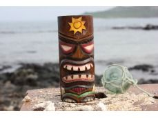 "Tiki Totem 6"" w/ Sunny Hawaii - Hand Carved & Painted"