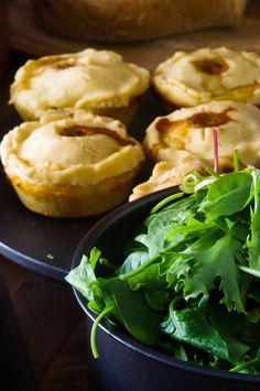 The Hobbit; An Unexpected Party Menu and Recipes. Meat pies and salad