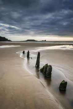 Not sure WHY you wouldn't believe there in Wales, but they sure are handsome. Here: Rhosilli Bay, Swansea, Wales Great Places, Places To See, Beautiful Places, Visit Wales, All Nature, British Isles, European Travel, Belle Photo, Places To Travel