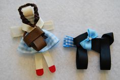 Dorothy Toto Puppy Hair Clips Barrette Birthday Party Baby Shower Wizard of Oz. $7.50, via Etsy.