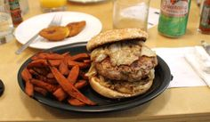 LA Fashion District: Brazilian Dining at Wood Spoon - Pork Burger and Yam Fries - 107 W. 9th St., Los Angeles, CA