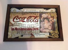 Coca Cola Coke Mirror Advertising Decor Picture Vintage Style