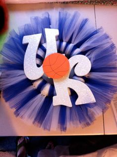 Change it to NOLA Saints. Black, gold, and white with fleur de lis Wreath Crafts, Diy Crafts, Wreath Ideas, Tutu Wreath, Mother In Law Birthday, Secret Sister Gifts, Sports Wreaths, Birthday Presents, Door Wreaths