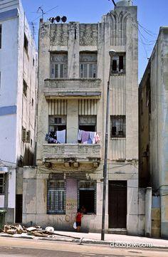 #ArtDeco   Apartments, Havana, Cuba <--- Just a little TLC needed to restore this beauty