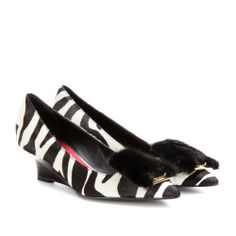 Burberry Prorsum PERRYVALE CALF HAIR WEDGE PUMPS
