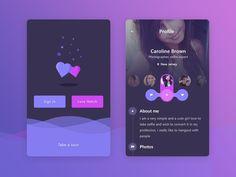 紫色系的app界面设计分享-UI设计网uisheji.com -