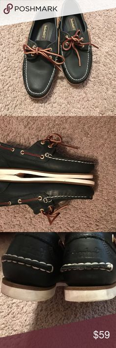 Timberland Timberland women shoes love them just worn couple of times the only reason for sale that I don't use them anymore no tears it's navy color Timberland Shoes Flats & Loafers