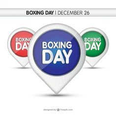 Boxing Day Tags Free Vector