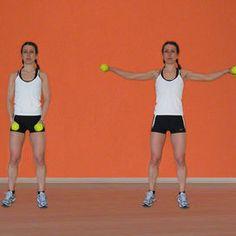 Alzate laterali Fitness in casa: gli esercizi per braccia e spalle - Rimettersi in forma | Donna Moderna