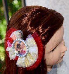 18 Inch Doll and Girl Princess Elena of Avalor Tulle Hair Bow Disney Princess Elena Bow American Girl Bow Handmade Hair Bow by RachelsHairBowtique on Etsy