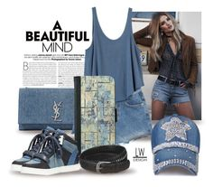 """""""Beautiful Denim Mind"""" by kashmier ❤ liked on Polyvore featuring Yves Saint Laurent, MICHAEL Michael Kors, RVCA, Paige Denim, polyfriends, polyvorecontest, iPHONEwallet, leatherwooddesign and shabbychich"""