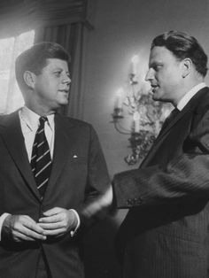 Rev. Billy Graham and President Kennedy