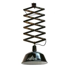 Scissor Tompa Black (3 in Stock) | Vintage Scissor Lamp | From a unique collection of antique and modern chandeliers and pendants at https://www.1stdibs.com/furniture/lighting/chandeliers-pendant-lights/
