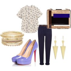 Senza titolo #2086 by noemydifiore on Polyvore featuring moda, Equipment, Christian Louboutin, Tory Burch and Lana