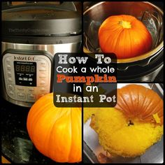 Want to learn how to cook a whole pumpkin or other winter squash in an instant pot really fast and easily? Well, you will not want to miss this tip! It's easy to cook squash in an instant pot, including pie pumpkins and make a homemade puree in just 12 minutes!