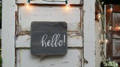 Welcome Sign Hello sign Wood Quote Sign Home Decor by CharaWorks