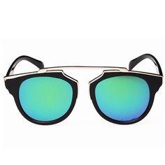 Black Frame Retro Blue Cat Eye Mirror Sunglasses Brand new. PRICE IS FIRM Accessories Sunglasses