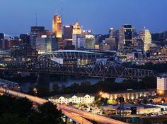 Cincinnati, Ohio Skyline From Devou Park, Covington, Kentucky