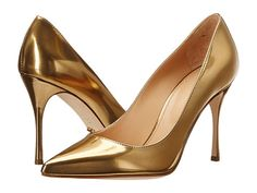 Shop Classic, Contemporary and Designer clothing, shoes and accessories at The Style Room (powered by Zappos)! Slip On Pumps, High Heel Pumps, Slip On Shoes, Pumps Heels, Gold High Heels, Gold Pumps, Gold Shoes, Women's Shoes, Court Shoes