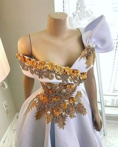 This Weekend Extraordinary With These deconstructed Shirt STYLES Bow Designed And Flower Bodice Velvet Finish Bridal Shower DressBow Designed And Flower Bodice Velvet Finish Bridal Shower Dress African Attire, African Fashion Dresses, African Dress, Dress Fashion, Fashion Clothes, Shower Outfits, Shower Dresses, Tutu Rock, Elegant Dresses