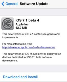 iOS 7.1 Beta 4 Download Now for iPhone, iPad, and iPod Touch