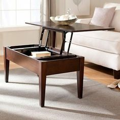 Modern Lift Top Coffee Table Contemporary Accent Cocktail Tables Espresso