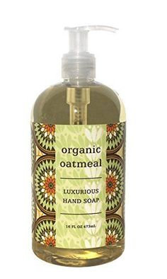 Greenwich Bay Organic Oatmeal Hand Soap  Enriched with Shea Butter Cocoa Butter Organic Oatmeal Extract  NaturalNo PARABENS American Made16 Oz ** Read more reviews of the product by visiting the link on the image.