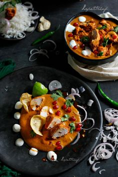 Michelin starred chef Vikas Khanna's recipe for Rose-tea smoked chicken tikka masala - a scrumptious curry with a silken smooth deceptively flavorful gravy and succulent pieces of chicken tikka smothered in what is no doubt the best gravy EVER.