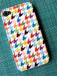Colorful Houndstooth iPhone 4S Case from Pencil Shavings Studio